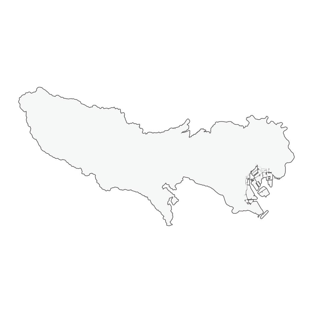 東京都白地図