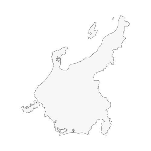 地図イラスト 中部地方 オーダーメイド退職祝い 栄光のあゆみ